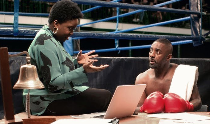 Lolly Adefope stars alongside Idris Elba | In a new comedy short directed by Spike Jonze for Squarespace
