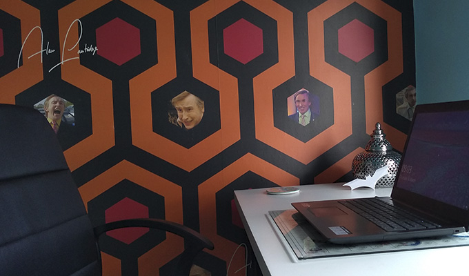 The great wall of Alan... | Now you can decorate your house in Partridge wallpaper