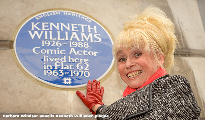 A little bit of blue... | Which comedians have been honoured with plaques