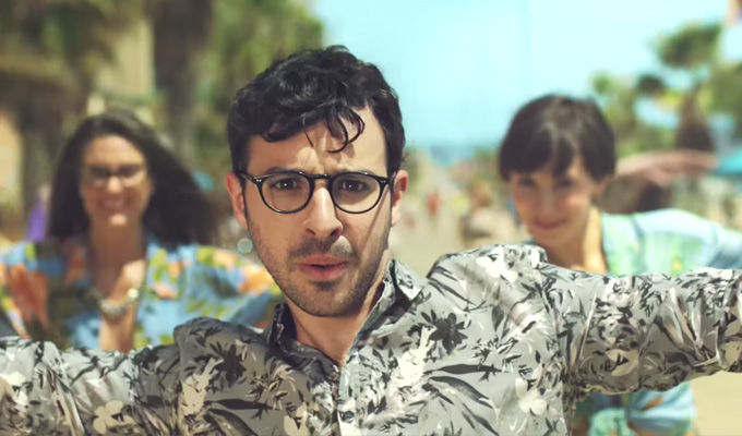 Simon Bird fronts Post Office ads | Showcasing 'his' rollerskating moves