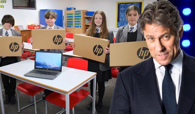 John Bishop donates 100 laptops to his old school | 'Our children deserve to be educated properly'