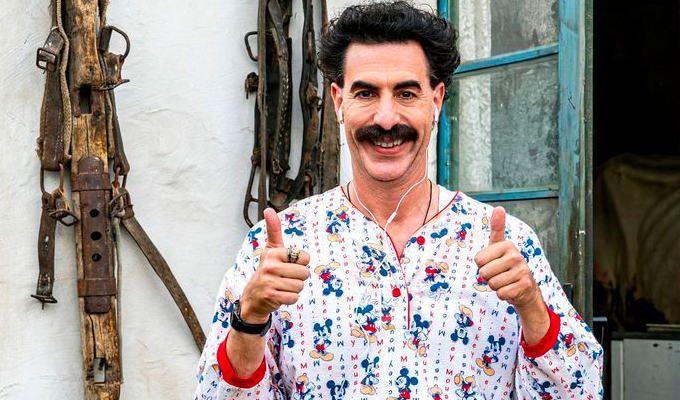 Very nice! Borat's in the record books | Sacha Baron Cohen wins awards for his characters...