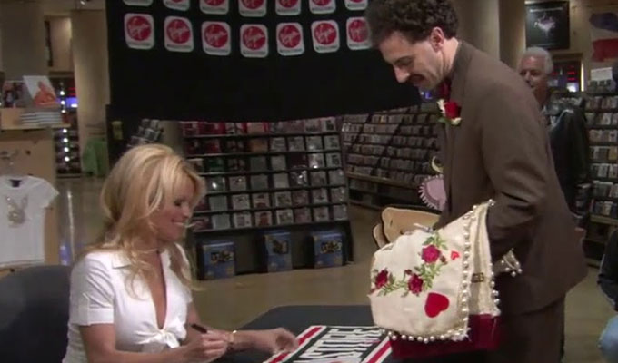Sacha Baron Cohen: Borat cost Pamela Anderson her marriage | ...and a bit of her jaw