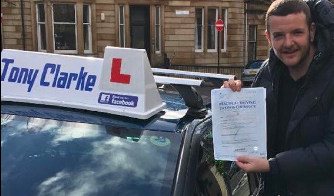Kevin Bridges passes his driving test 'like a boss' | ...12 years after his first lessons