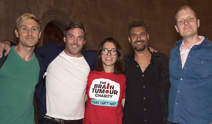 Underbelly raises £41k for brain tumour charity | Sell-out benefit gig at the Edinburgh Fringe