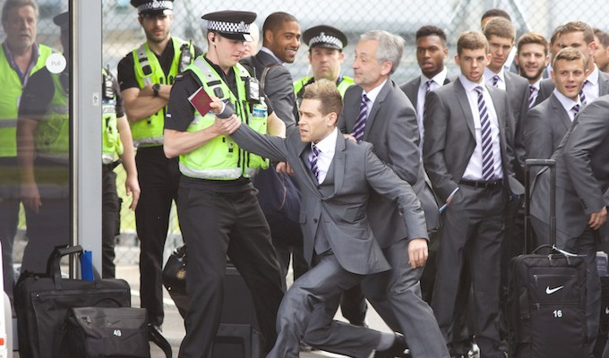 Simon Brodkin attempts to join England squad | Lee Nelson creator led off by police