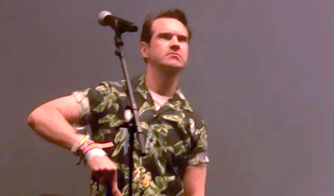 Jimmy Carr's sweeping statement | Comic takes to the Glastonbury stage during The Killers' set