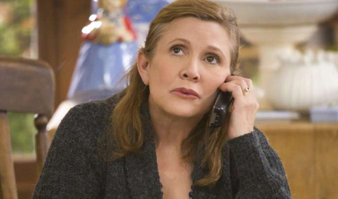 One of Carrie Fisher's final roles to be aired | Playing a waitress in Sky Arts comedy