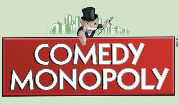 It's comedy Monopoly! | Board game redesigned around puns on comics' names