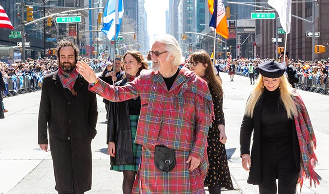 Sir Billy Connolly leads New York Tartan Parade | 'I danced a wee jig in my heart.'