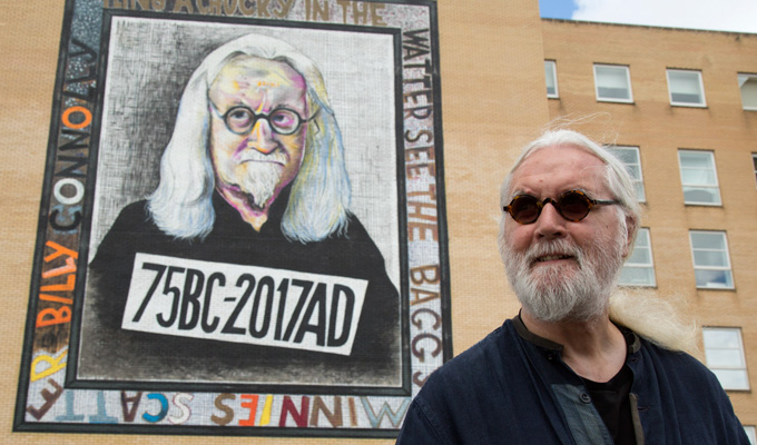 'I'm just flabbergasted...' | Billy Connolly wowed by the giant murals of himself