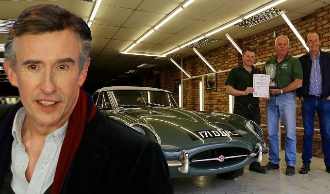 Cashback! Coogan's classic car scoops an award | Rare Jaguar E-Type restored to its original glory
