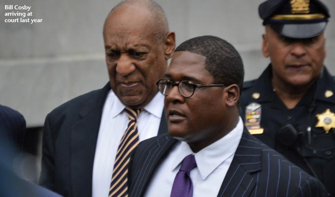 Bill Cosby sentenced to three to ten years | Comedian judged a 'sexually violent predator'