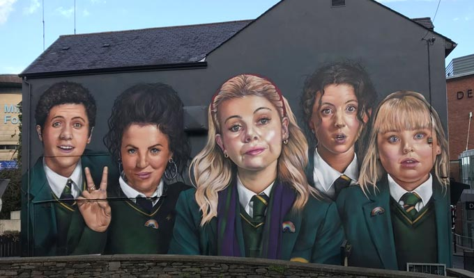 Massive mural honours the Derry Girls | 'Mind is blown'