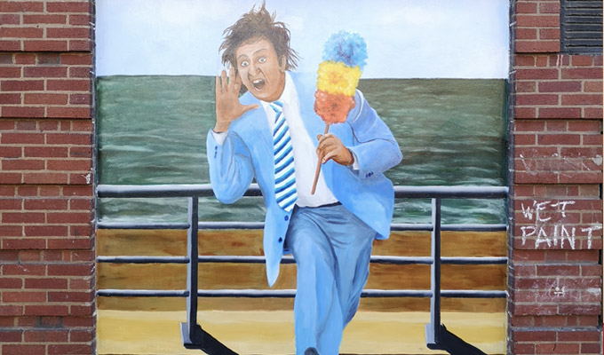 Ken Dodd remembered in new mural | What a wonderful day for getting your picture drawn on a wall and shouting: 'I'm plastered!