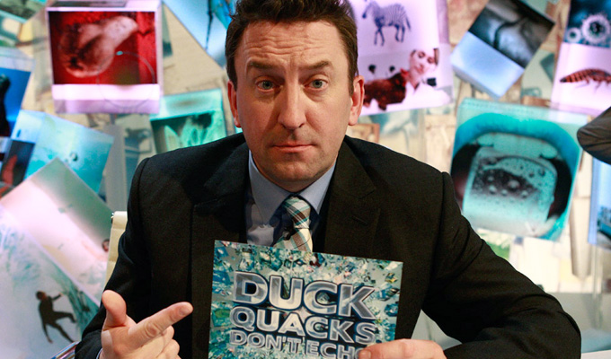Lee Mack becomes a kids' TV presenter | Duck Quacks Don't Echo goes to children's telly