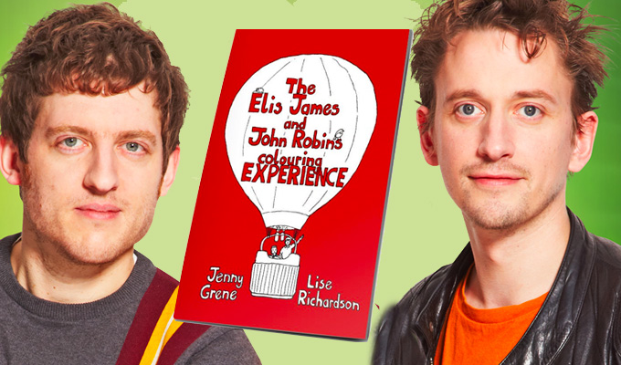 Grab your crayons! | Elis James and John Robins in new adult colouring book