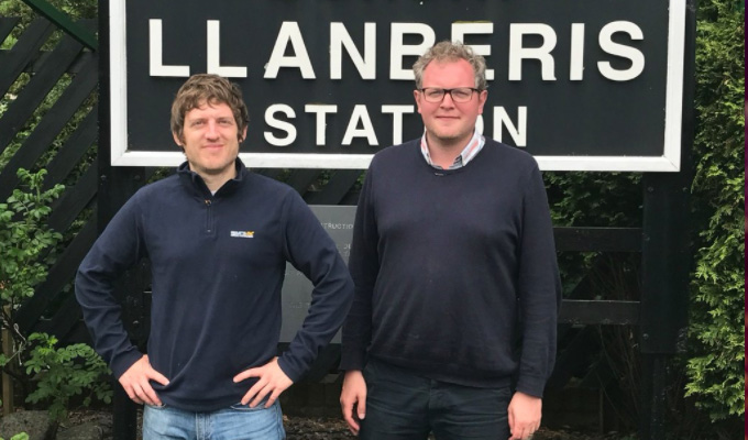 Croeso i Gymru... | Elis James welcomes Miles Jupp to Wales in new BBC travelogue