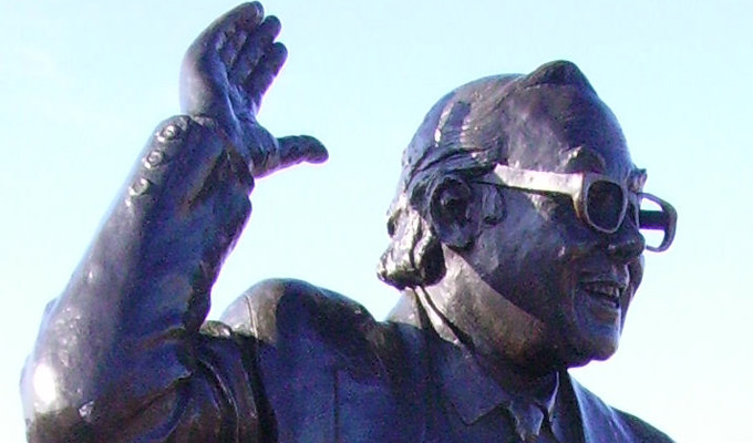 You can hardly see the join... | Eric Morecambe statue has been repaired