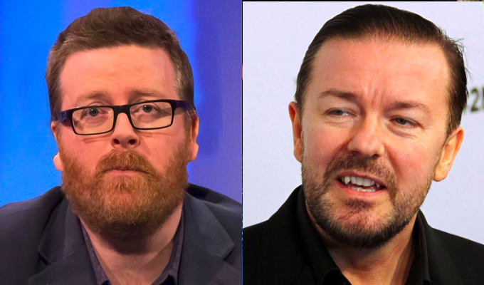 Frankie vs Ricky | Boyle accused of hypocrisy after calling out Gervais over trans jokes