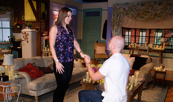 I'll be there for you | Friends fan pops the question on the sitcom's set