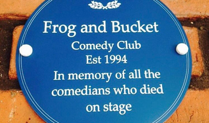 Plaque removal | Comedy club appeals for return of its joke sign
