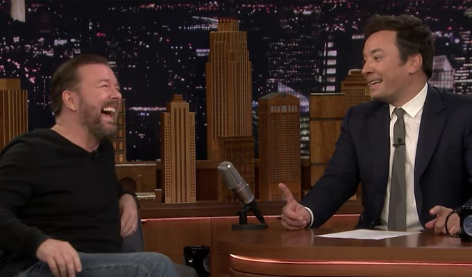 Ricky Gervais's laugh - the dance remix | Track played out on Jimmy Fallon's show