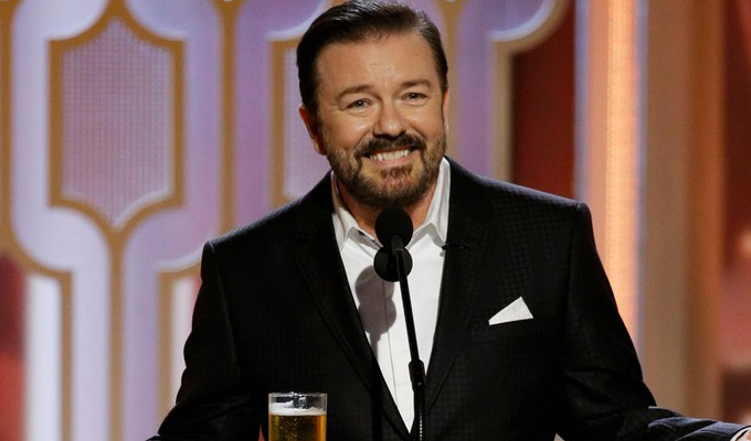 Gervais: I've been asked back to the Globes | Here are some of his gags from last night