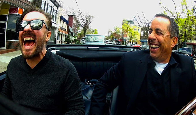 Ricky Gervais returns to Comedians in Cars Getting Coffee | Jerry Seinfeld's guests also include Eddie Murphy