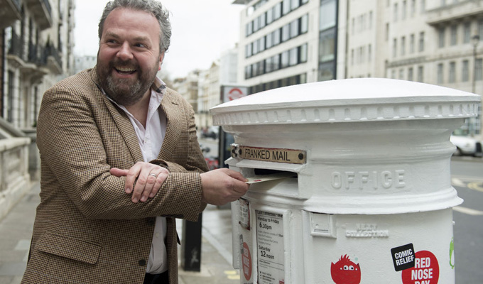 It's all in the delivery... | Here's a postbox that tells jokes