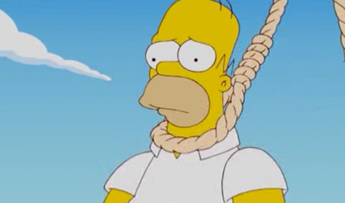 Bad noose for The Simpsons | Show rapped over Homer's hanging