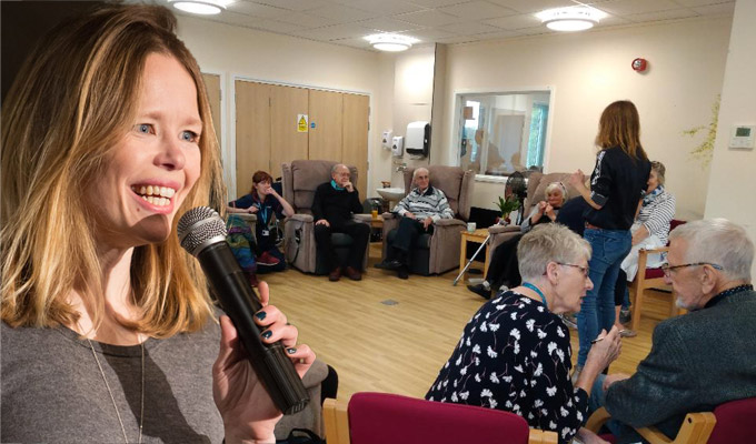 What's it like to perform comedy in a hospice? | Toni Kent on an unusual daytime gig