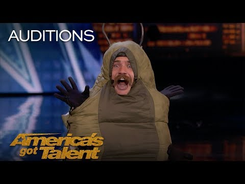 Watch Sethward The Caterpillar confuse America's Got Talent | Simon Cowell says it's  'the worst act we've had'