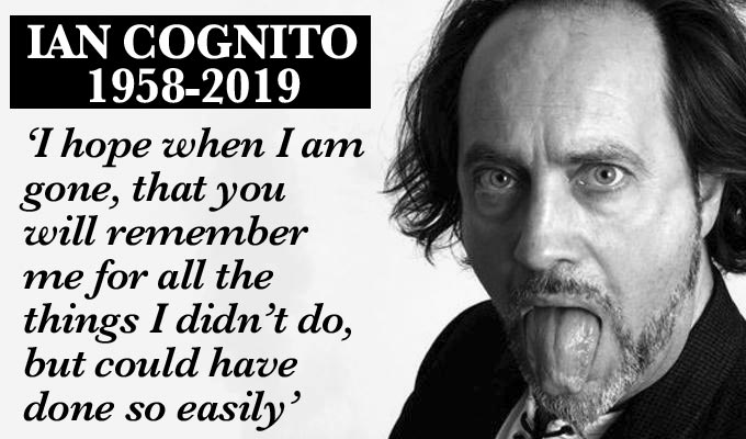 Comic Ian Cognito dies on stage | Tributes paid to a 'true maverick of the circuit'