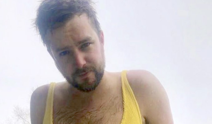You won't be able to unsee this image of Iain Stirling | Girlfriend shares a photo of him in her bathing suit...