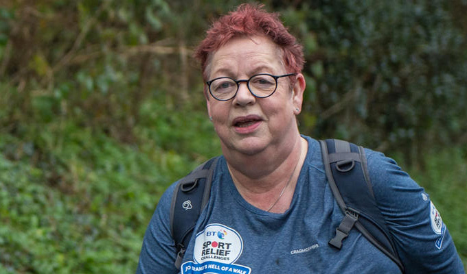 Jo Brand completes her 'Walk Of Hell' | 150-mile trek ends in Liverpool