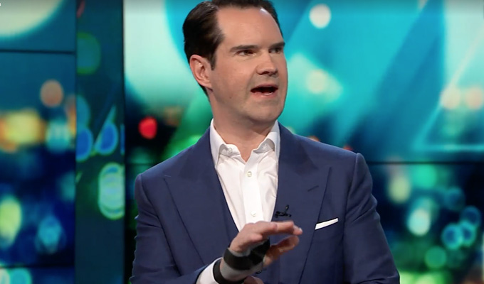 Jimmy Carr reveals how he broke his wrist | ... as he tries to wangle a royal wedding invitation
