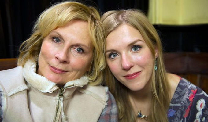 Now this is a real family movie... | Jennifer Saunders and daughter Beattie Edmondson to star together