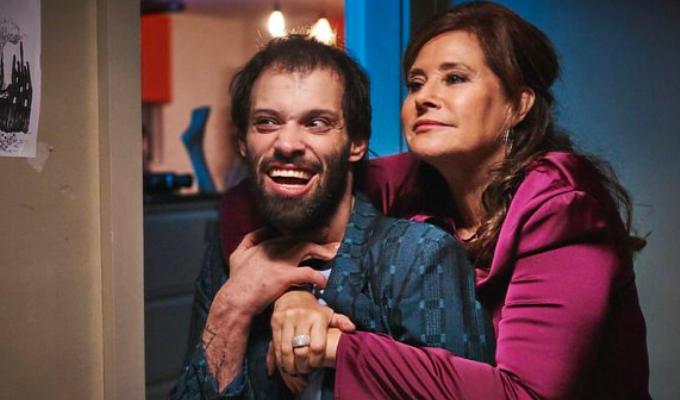 Lorraine Bracco hugging Tim in Jerk