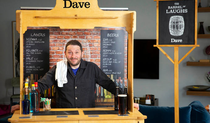 Jon Richardson launches a flatpack pub | To mark the reopening of beer gardens