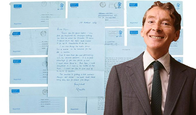 Kenneth Williams' letters go under the hammer | Carry On star talks about suicide, being a useless understudy and 'idiot' Arthur Scargill