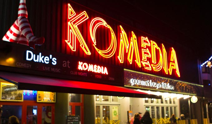 Brighton's Komedia confirms re-opening | Socially distanced programme announced
