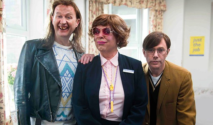 Where can you see the new League Of Gentlemen first? | Erm, Hartlepool