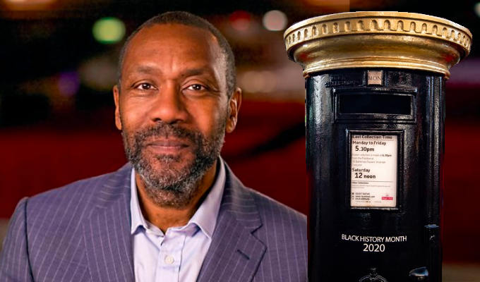 Lenny Henry honoured - on a Belfast letterbox | Royal Mail gesture for Black History Month