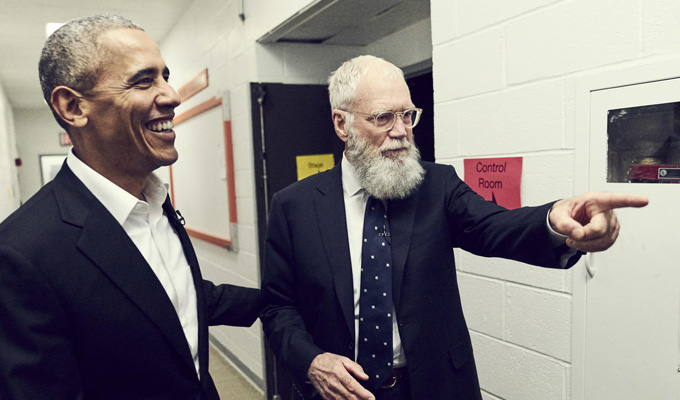 David Letterman hosts a new talk show | The king of late night is out of retirement – and Obama's his first guest
