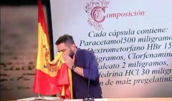How this sketch could land a comedian in jail.. | Spanish comic hauled in front of judge