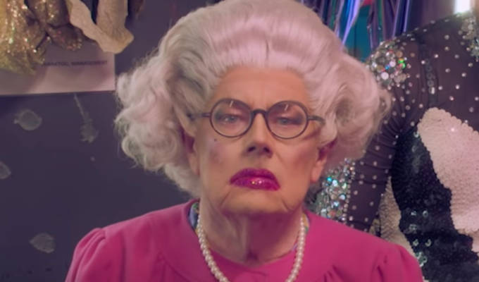Michael Whitehall performs drag - as The Queen | In the new series of Jack Whitehall's Travels With My Father