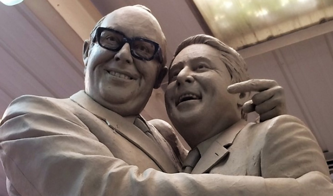 You can't see the joins... | Morecambe and Wise statue unveiled in Blackpool