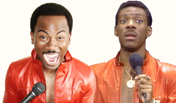 You're no son of mine! | So stop saying you are, Eddie Murphy tells comic Brando