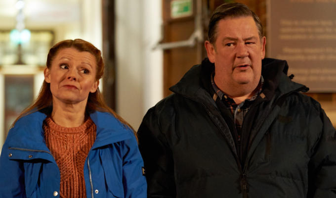 Johnny and Sian in Murder They Hope